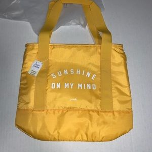 VS PINK Cooler Tote Sunshine Bag Yellow New
